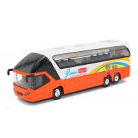 豪华旅游合金车长途客车公交车玩具合金小汽车巴士模型声光回力车