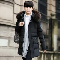 棉衣男士外套冬季中长款韩版潮流面包服袄子连帽装学生休闲大风衣
