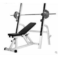 运动器械美观斜式连体深蹲架举重床卧推架杠铃床套装多功能家用健身器材