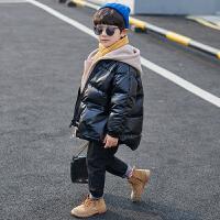 童装男童冬装外套儿童羽绒棉衣大童洋气中长款棉袄