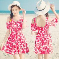 新款沙滩泳衣女 分体裙式遮肚显瘦性感修身温泉游泳衣 支持礼品卡支付