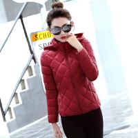 冬季大促新款棉衣女修身轻薄短款棉袄女装大码显瘦立领冬外套