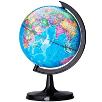 包邮得力文具 deli 3031 地球仪10.6cm高清 标准教学经典中文地形