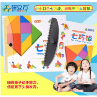 全店支持礼品卡磁性七巧板益智磁力拼图324题拼板早教思维儿童智力玩具3-6-10岁
