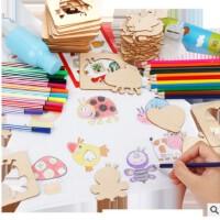 全店支持礼品卡儿童学画画工具 宝宝涂鸦涂色填色描画绘画模板套装幼儿益智玩具