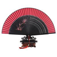 萌味 折扇女 女式手绘扇子折扇摆件中国风古风古典折叠扇子可跳舞蹈扇送长辈创意小礼品