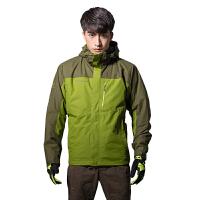 探路者户外秋冬男款三合一保暖防风防水套绒冲锋衣