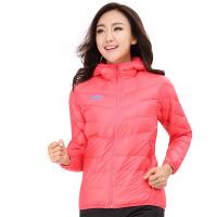 秋冬季女款户外羽绒服 休闲保暖修身外套 粉红 S