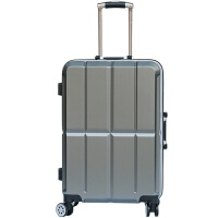 七夕礼物铝框旅行箱万向轮商务拉杆箱学生行李箱男女密码登机箱子 铁灰色 20寸