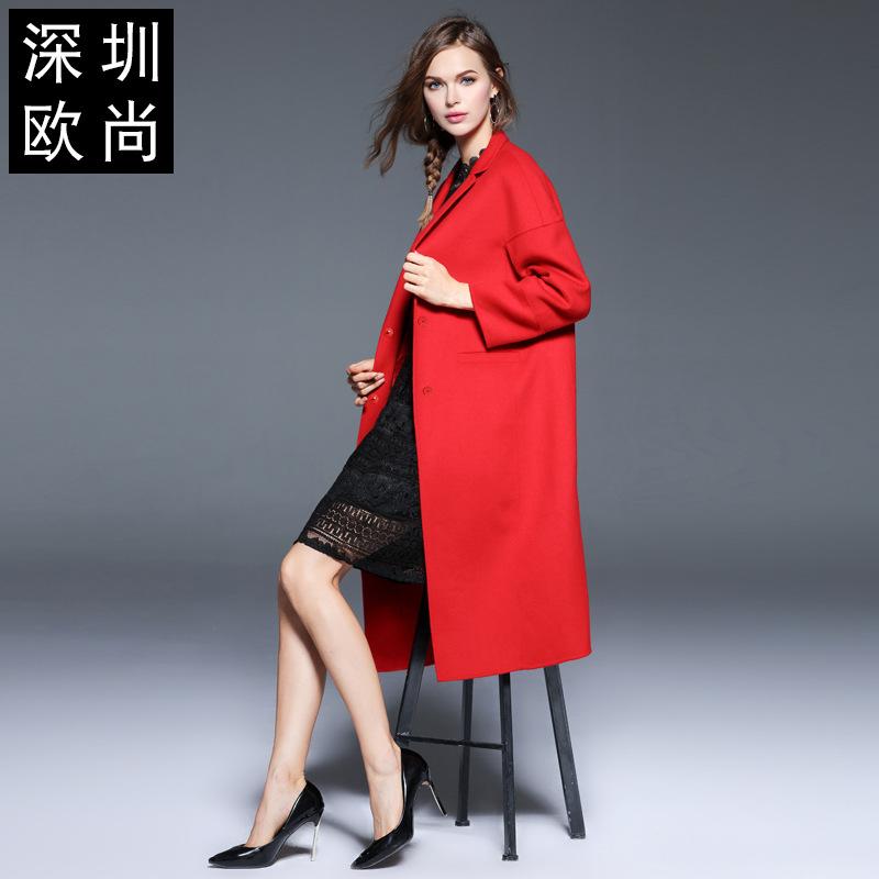 女冬装新款长款风衣时尚羊毛毛呢外套网冬装女装档口 大红 一般在付款后3-90天左右发货,具体发货时间请以与客服协商的时间为准