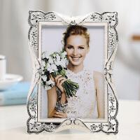 复古欧式婚纱照相框摆台6寸7寸 照片框像框相架七寸 创意礼物 银色 米兰秋天(银色)