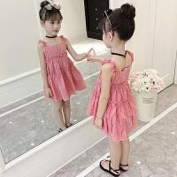 女童夏装连衣裙2018新款韩版儿童吊带裙中大童公主裙洋气女孩裙子