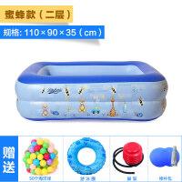 男孩 婴儿游泳池充气加厚家庭用宝宝戏水洗澡池小孩儿童海洋球池 戏水玩具