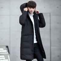 冬季男士新款潮牌羽绒服韩版潮流中长款青少年修身加厚男装外套男