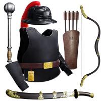 COS大明朝盔甲可穿套装 塑料儿童玩具/刀剑弓锤塑料兵器