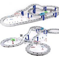 男孩拼装多层电动赛车赛道小汽车套装2-3-4-6岁儿童轨道车玩具