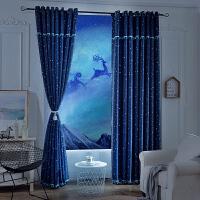 遮光窗帘成品简约现代客厅卧室欧式落地飘窗新款免打孔J