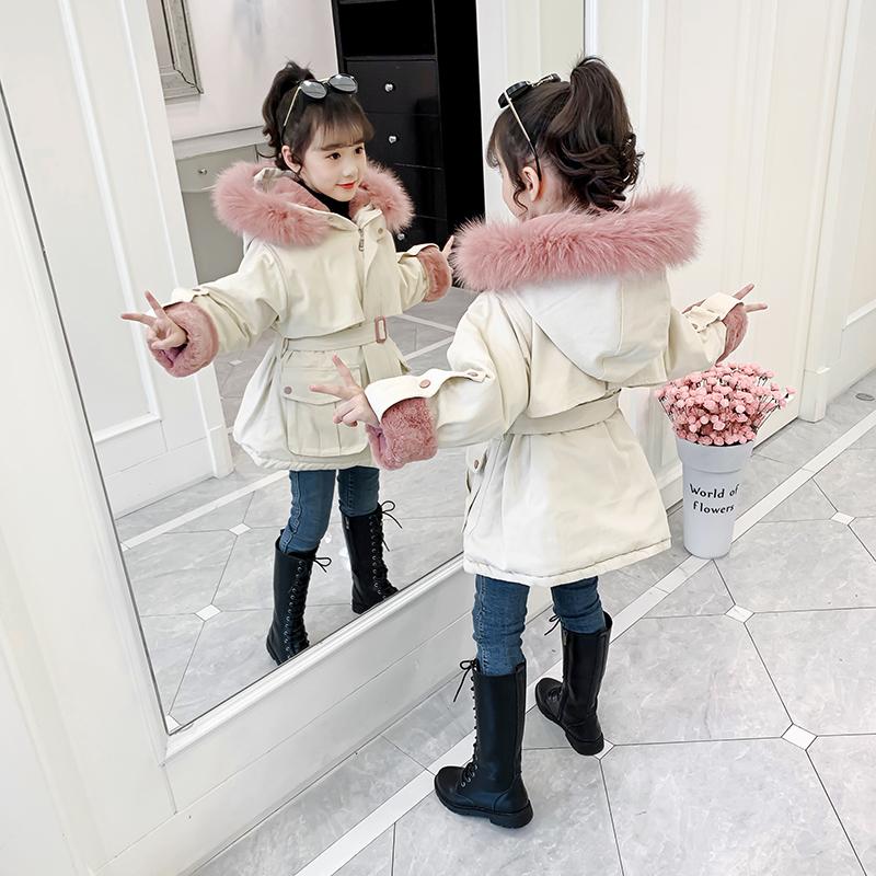 女童棉衣冬装新款女孩棉袄外套
