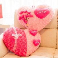 创意心形抱枕毛绒爱心love家居靠垫一对可爱婚庆结婚情人节礼物