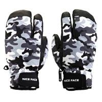 专业滑雪手套 男女冬季户外运动防风防水保暖 单双板三指包指手套