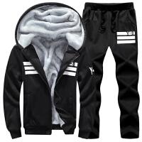 运动套装男冬季加肥加大码青少年运动服休闲卫衣长袖加绒加厚套装
