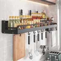 厨房置物架免打孔壁挂式调料品多功能筷子刀架墙上家用收纳挂架kb6