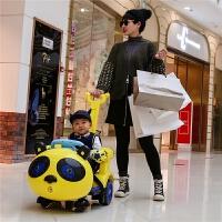 儿童电动车童车四轮带遥控扭扭三轮玩具车可坐人手推汽车室内摇摆