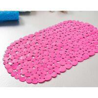 普润 浴室卵石PVC吸盘式防滑垫地垫 颜色随机