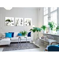 现代客厅装饰画沙发背景墙三联画书房壁画办公室字画挂画无框画 A 80*80一套三联 25mm环保 一套三联价格,