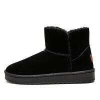 男童雪地靴中大童加绒绒面保暖男孩棉鞋女童高帮大棉冬鞋