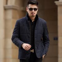 新款中年男士冬装外套加厚中老年男装棉衣爸爸装父冬季棉袄