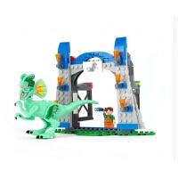 侏罗纪公园拼装积木暴龙基地逃脱实验室抓捕霸王龙双脊龙儿童男孩子玩具6-8-10-12岁礼物