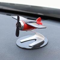 太阳能飞机车内饰品摆件个性创意车载中控台汽车高档男士装饰用品