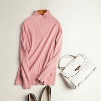 秋冬新款纯色羊绒衫女半高领套头打底毛衫时尚保暖毛衣女外套