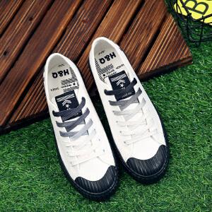 环球 2017新款秋季女鞋街拍小白鞋女百搭韩版帆布鞋板鞋学生丑萌鞋