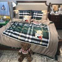 贵族熊60长绒棉卡通四件套棉儿童床品套件1.5米床可定做床笠 活力熊仔