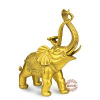 大象摆件一对纯铜象风水工艺品家居饰品客厅装饰结婚礼物礼品七夕 抖音