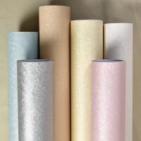 防水自粘墙纸纯色素色蚕丝壁纸温馨卧室现代简约家具宿舍翻新墙贴