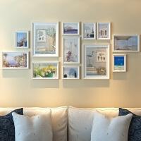 实木相框架照片墙 个性实木12框照片墙客厅创意相框挂墙组合餐厅简约现代墙上装饰