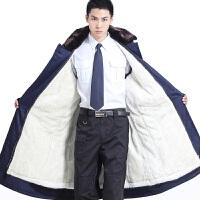 羽绒服/大衣冬季新款加厚棉大衣男冬季长款劳保大衣保安防寒服保暖棉袄 均码120-220斤都可以穿