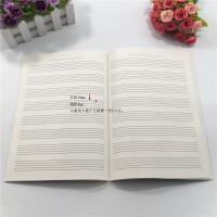 儿童宽距五线谱谱练习作业本钢琴小提琴架子鼓乐本老人小学生专用