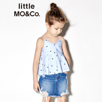 【折后价:119.6】littlemoco夏季新品女童背心单肩吊带小星星图案显瘦上衣