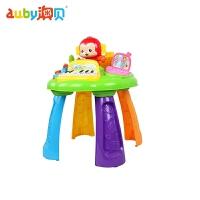 澳贝小猴学习桌 积木珠算琴键婴幼儿童益智早教1一岁玩具周岁玩具