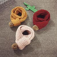 韩版儿童围巾冬季手工粗线毛线帽围脖男女宝宝加厚脖套保暖秋新款