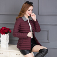 0415000836673女士小棉衣短款秋冬装新款韩版修身薄款中年轻薄棉袄外套