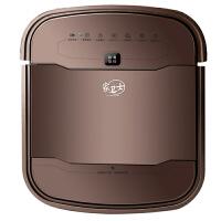 家卫士/扫地机器人智能吸尘器 家用超薄全自动充电吸尘器S500咖啡色
