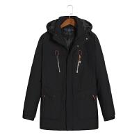 冬装加肥加大码男士加厚运动休闲棉衣特大宽松外套中老年棉袄 L 适合120斤左右