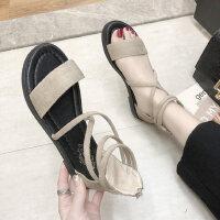 气质百搭凉鞋户外时尚女士平底鞋休闲舒适女鞋ins潮
