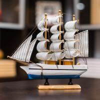 装饰品摆件工艺品木帆船模型客厅摆件家居饰品书架装饰品