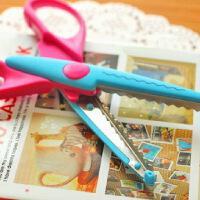 创意家居 花纹花边剪刀压花器儿童安全剪刀DIY相片花纹剪刀 6款一套入